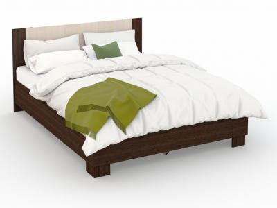 Кровать Аврора 140х200 основание ЛДСП Венге/Дуб молочный