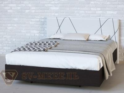 Кровать двойная №1 Абстракция/Дуб Венге/Сантекс бежевый